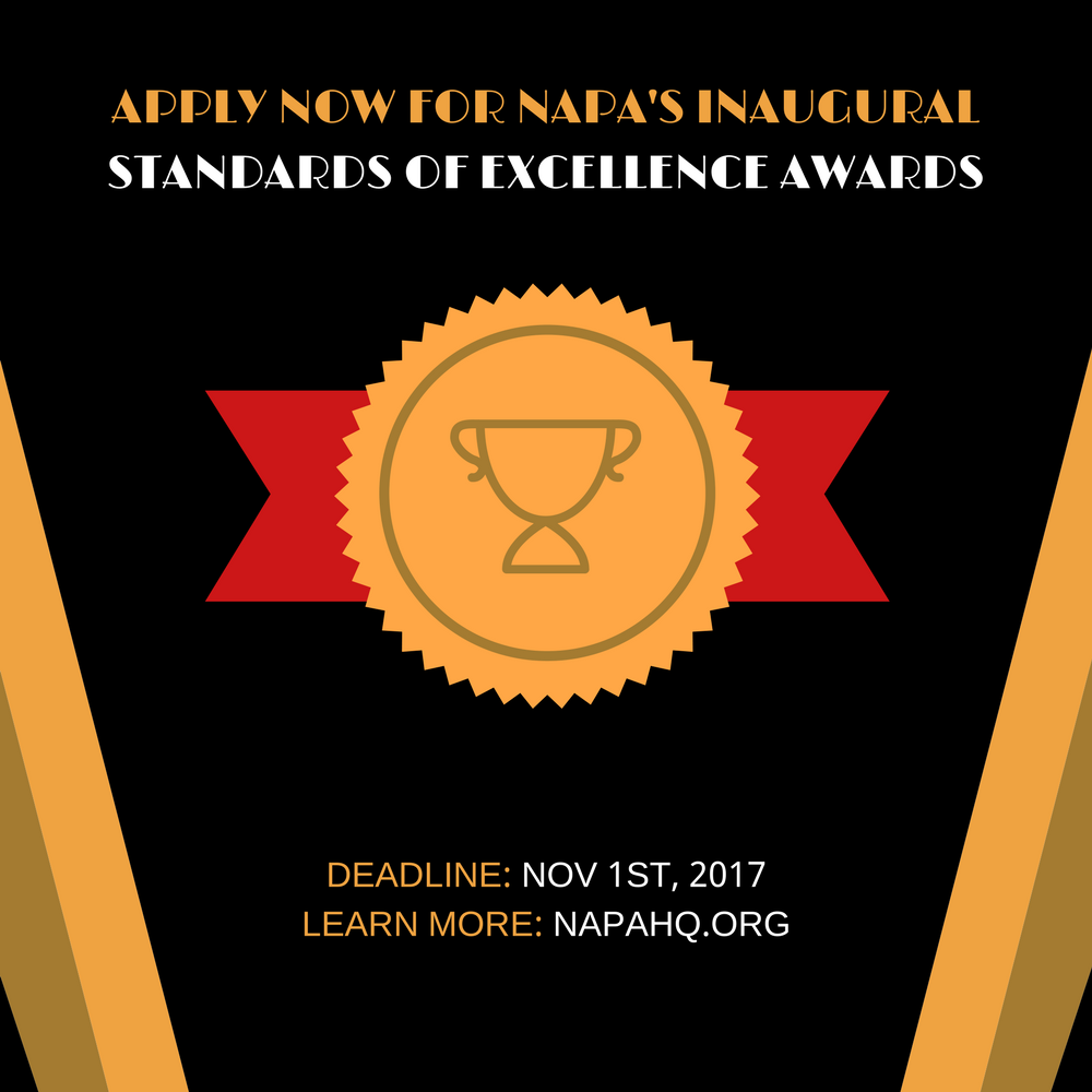 apply now for napas inaugural standards of excellence awards